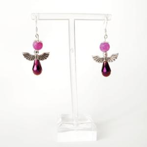 Náušnice Purple Angel